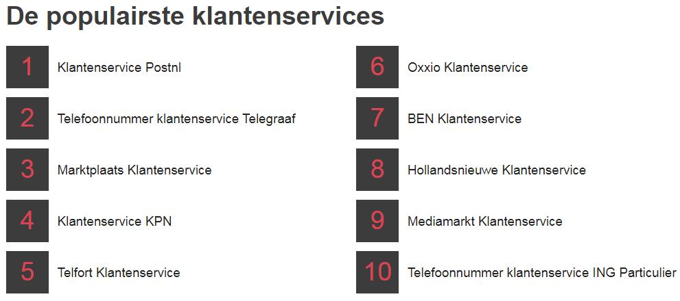 Telefoonklantenservice.nl | 18844